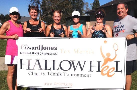 Title Sponsors Cindy and Tex Morris pictured (l-r) with 3.5 Women's Champions Alena Prejean / Renee Simoneaux and Finalists Meng Depriest and Corina Melancon