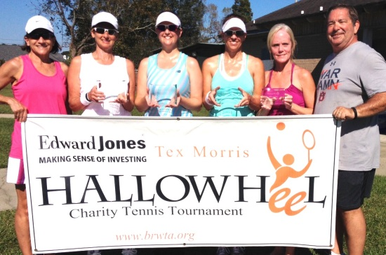 Title Sponsors Cindy and Tex Morris pictured (l-r) with 4.0 Women's Champions Amy Silver / Kelly Savant and Finalists Monica Dieterich and Donna Jordan